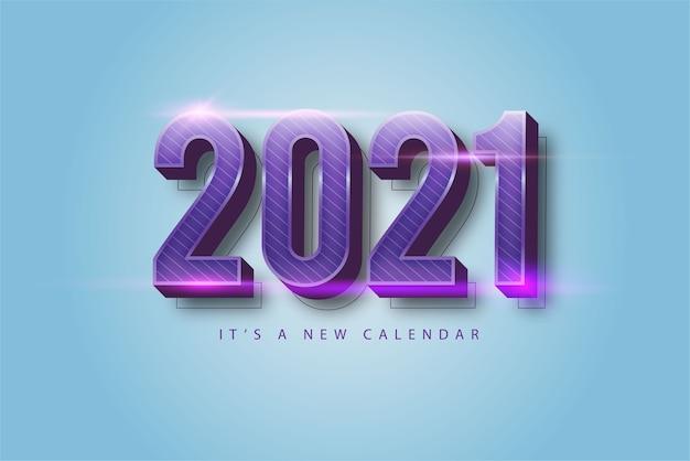 Gelukkig nieuwjaar 2021 vakantie paarse luxe achtergrond