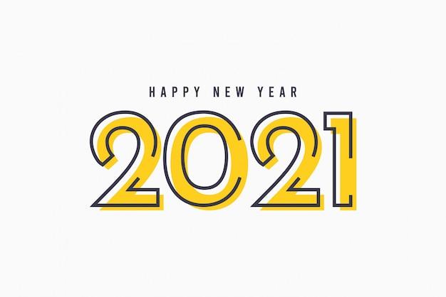 Gelukkig nieuwjaar 2021 vector sjabloon.