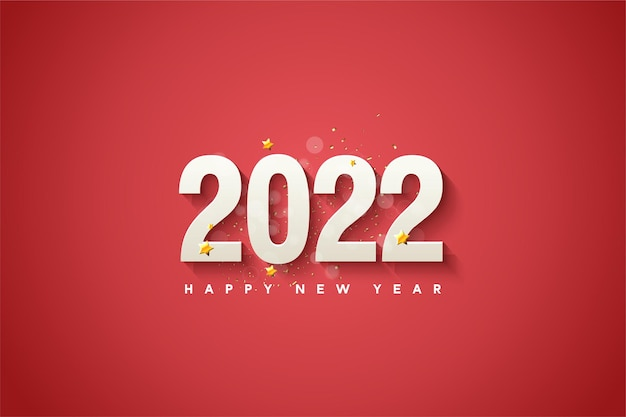 Gelukkig nieuwjaar 2022 achtergrond met luxe nummers