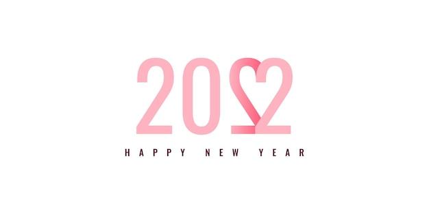 Gelukkig nieuwjaar 2022 illustratie sjabloonontwerp