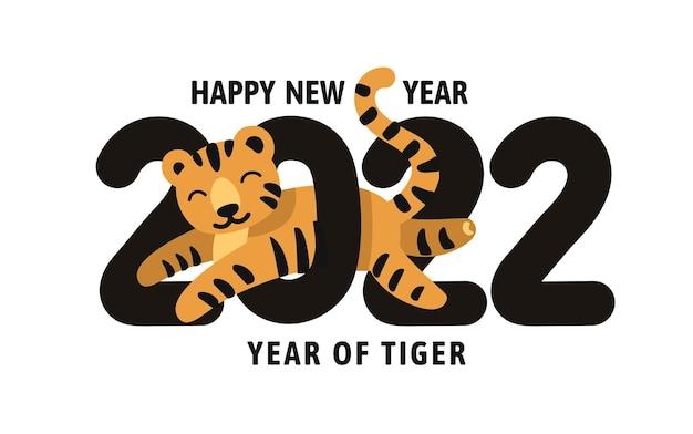 Gelukkig nieuwjaar 2022 jaar van de tijger