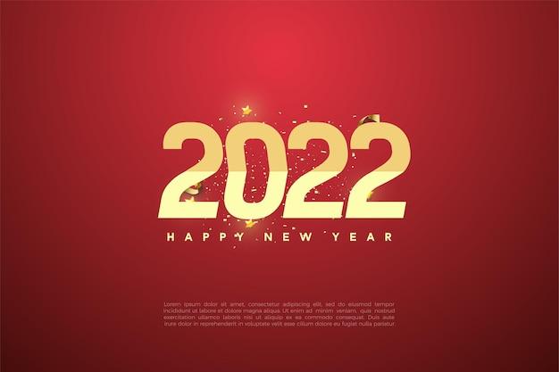 Gelukkig nieuwjaar 2022 met cijferreeksen