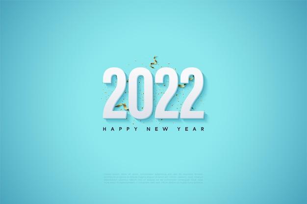 Gelukkig nieuwjaar 2022 met cijfers en feestelijk gejuich