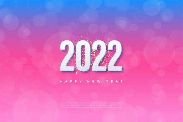 Gelukkig nieuwjaar 2022 met een gegradeerde achtergrond