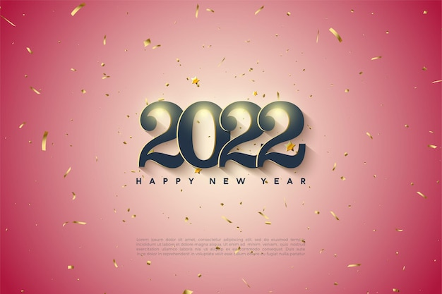 Gelukkig nieuwjaar 2022 met licht verloop
