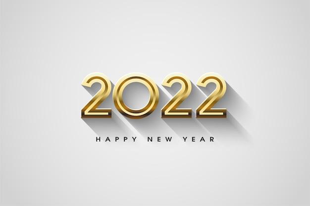 Gelukkig nieuwjaar 2022 met luxe gouden cijfers