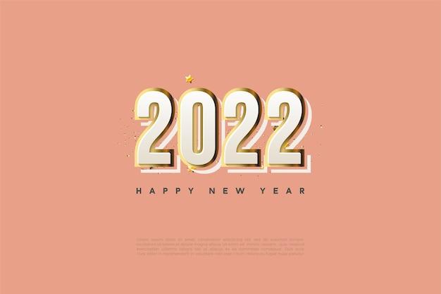 Gelukkig nieuwjaar 2022 met moderne cijfers