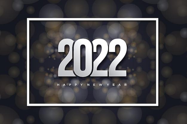 Gelukkig nieuwjaar 2022 met over elkaar heen geplaatste cijfers