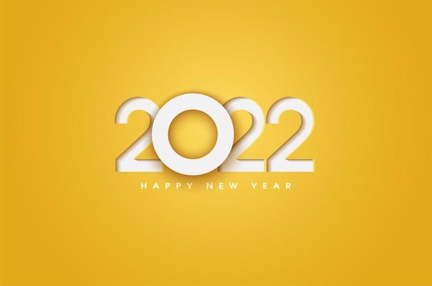 Gelukkig nieuwjaar 2022 met overlappende nummers