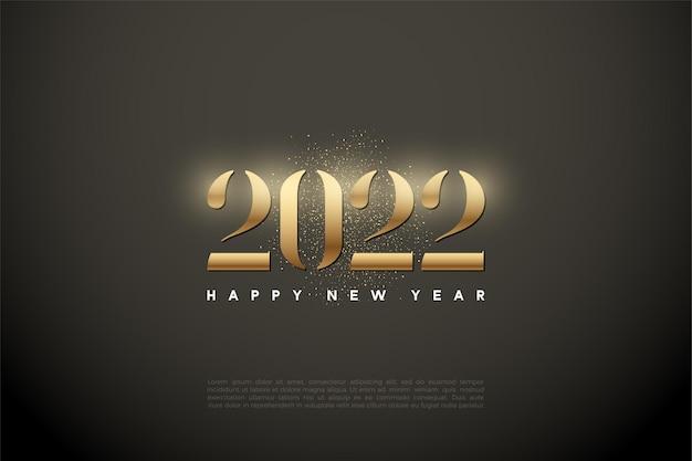 Gelukkig nieuwjaar 2022 met stralende cijfers