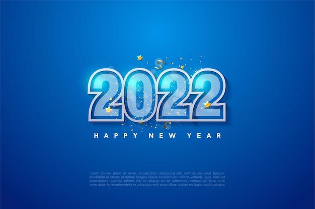 Gelukkig nieuwjaar 2022 met twee nummergrenzen