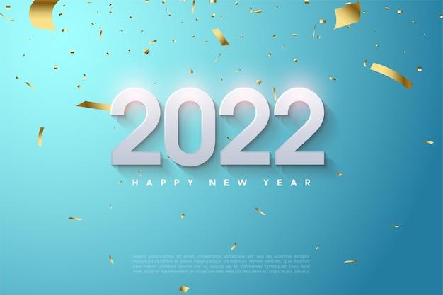 Gelukkig nieuwjaar 2022 met zachte gearceerde cijfers