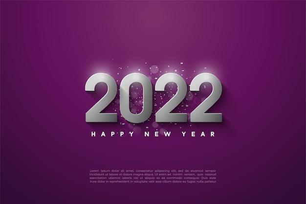 Gelukkig nieuwjaar 2022 met zilveren cijfers
