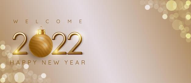 Gelukkig nieuwjaar 2022 modern design met tekstruimte geschikt voor banner nieuwjaarsviering