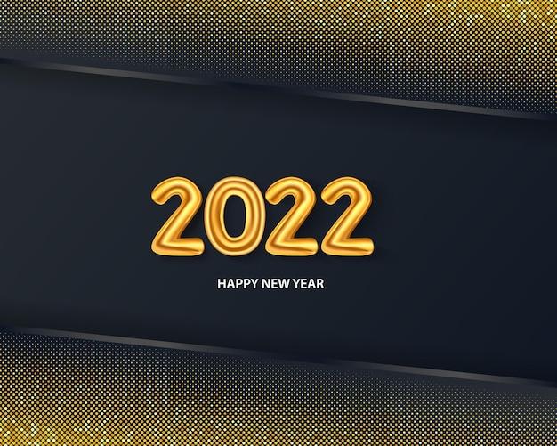 Gelukkig nieuwjaar 2022 op de abstracte achtergrond vector