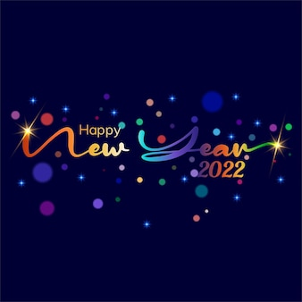 Gelukkig nieuwjaar 2022 poster vector