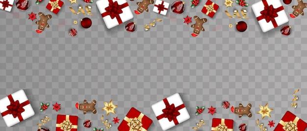 Gelukkig nieuwjaar 2022 realistische elegante vectorsjablonen realistische geschenken en kerstslingers