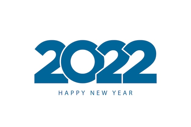 Gelukkig nieuwjaar 2022 sjabloon moderne zakelijke stijl blauwe kleur