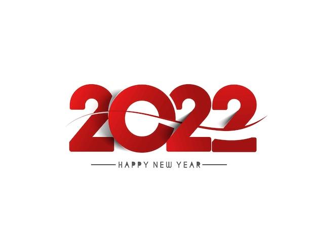 Gelukkig nieuwjaar 2022 tekst typografie ontwerp geklets, vectorillustratie.