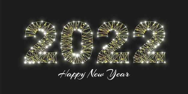 Gelukkig nieuwjaar 2022 wenskaart.