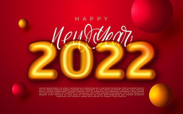 Gelukkig nieuwjaar 2022 winter vakantie wenskaart ontwerpsjabloon