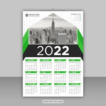 Gelukkig nieuwjaar 2022 zakelijke wandkalender ontwerpsjabloon