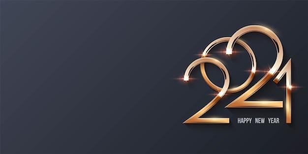 Gelukkig nieuwjaar achtergrond met gouden cijfers
