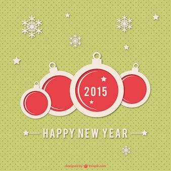 Gelukkig nieuwjaar achtergrond voor 2015 Gratis Vector