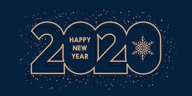 Gelukkig nieuwjaar banner