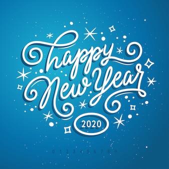 Gelukkig nieuwjaar belettering sjabloon. wenskaart of uitnodiging