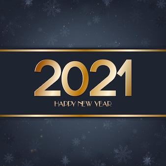 Gelukkig nieuwjaar blauwe en gouden achtergrond