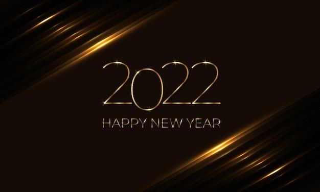 Gelukkig nieuwjaar elegante gouden en donkerbruine luxe achtergrond