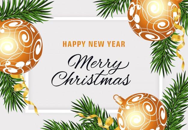 Gelukkig nieuwjaar en merry christmas-tekst