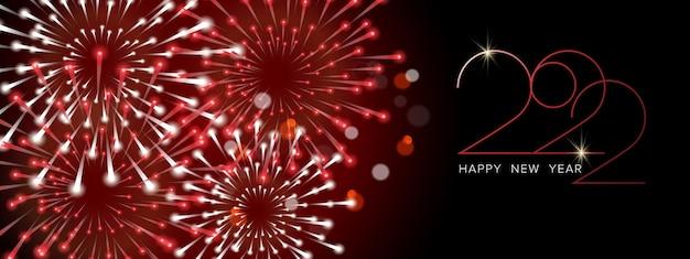 Gelukkig nieuwjaar en vrolijk kerstfeest! realistische vectorwenskaart met kerstballen en slingers