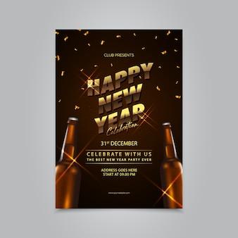 Gelukkig nieuwjaar flyer