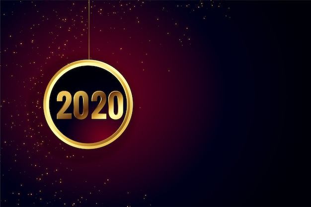 Gelukkig nieuwjaar gouden behang
