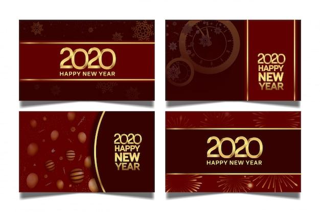 Gelukkig nieuwjaar ingesteld sjablonen
