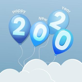 Gelukkig nieuwjaar met ballonnen