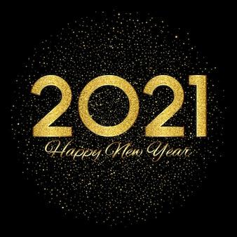 Gelukkig nieuwjaar met glitterend gouden ontwerp