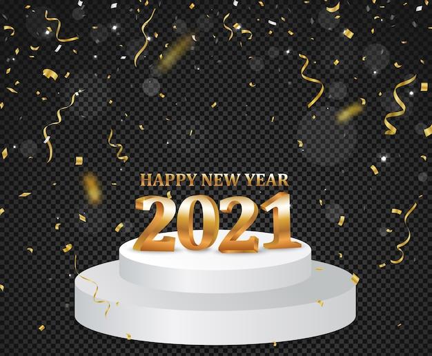 Gelukkig nieuwjaar met gouden confetti