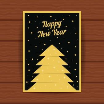 Gelukkig nieuwjaar met gouden wenskaart. concept van 2017 kerstkaart, kop, glitter decor, boekje omslag, festival decoratief, feest, plakkaat. vlakke stijl trend modern ontwerp vectorillustratie