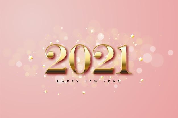 Gelukkig nieuwjaar met klassieke gouden cijfers.