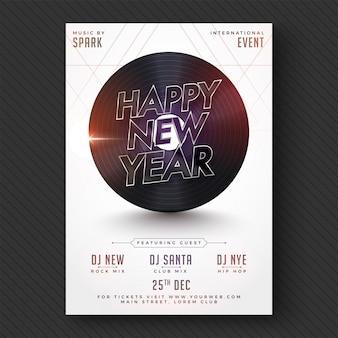 Gelukkig nieuwjaar party flyer of banner design.