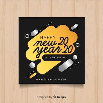Gelukkig nieuwjaar sjabloon folder
