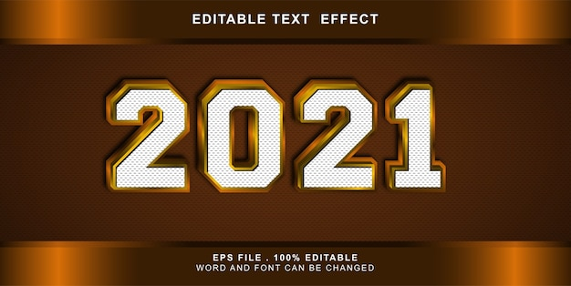 Gelukkig nieuwjaar teksteffect bewerkbaar