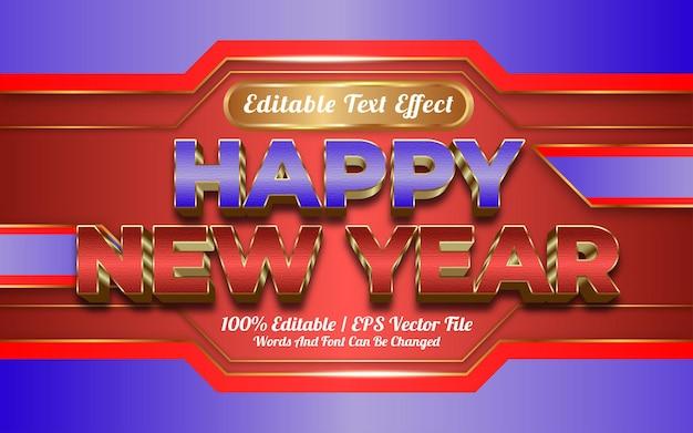 Gelukkig nieuwjaar teksteffect sjabloonstijl