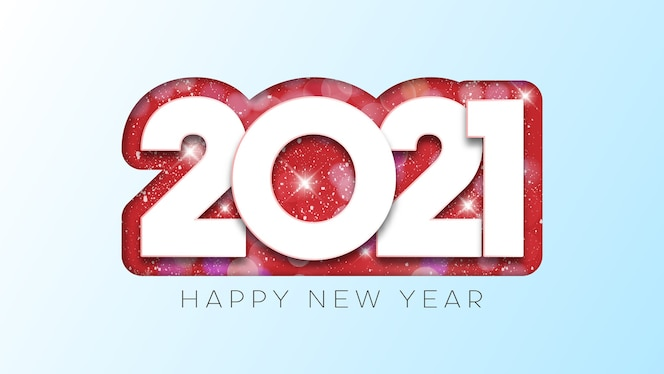 gelukkig nieuwjaar tekstontwerp.