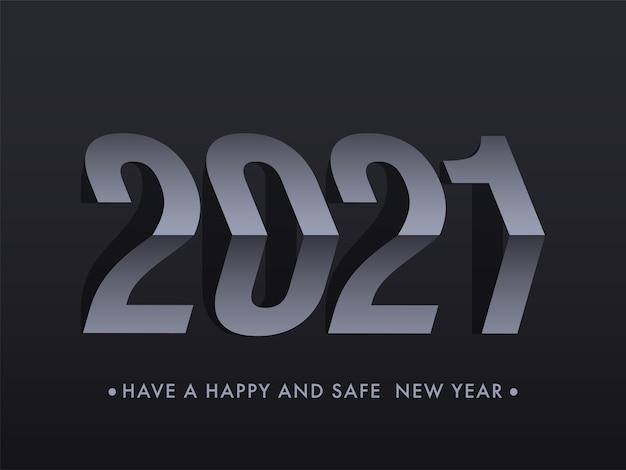 Gelukkig nieuwjaar twenty twenty one concept