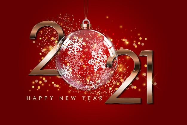 Gelukkig nieuwjaar vakantie achtergrond sjabloon.