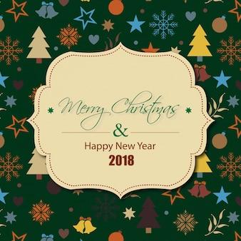 Gelukkig nieuwjaar, vrolijke chrismas, 2018 desgin